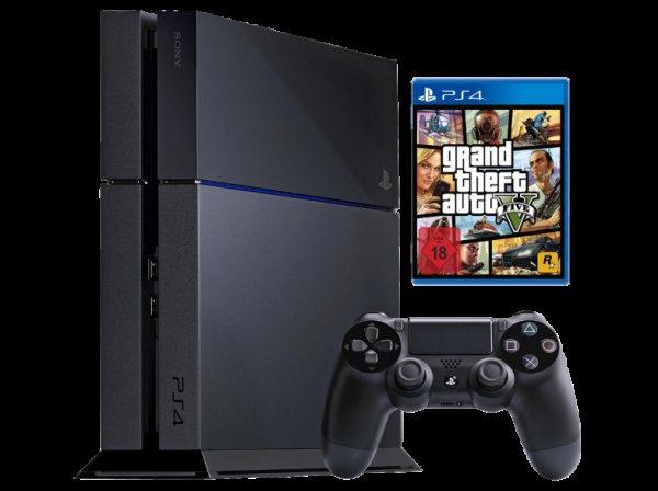 SONY Playstation 4 inkl. Grand Theft Auto 5 bei Mediamarkt.de für nur 399€