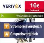 [Qipu] Verivox: 16€ Cashback + 10€ Amazon Gutschein wieder da!