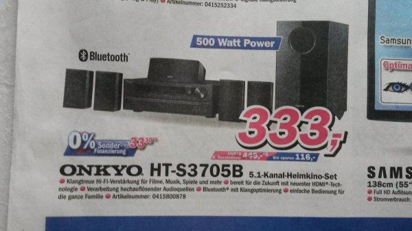 Onkyo HT-S3705 B 5.1 Heimkino-Set (Telepoint )