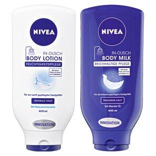 Nivea in-dusch bodymilk bei real..