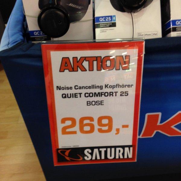 [LOKAL REUTLINGEN] Bose quiet comfort qc25 für 269€