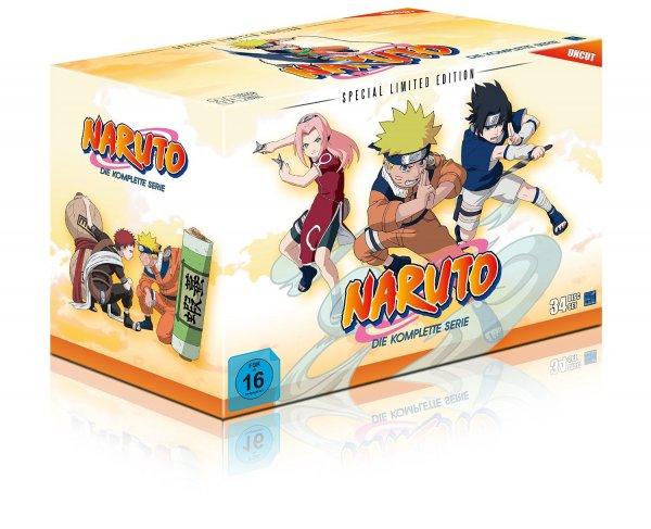 Naruto Gesamt-Box (Special Limited Edition mit 8 Postkarten & Poster) (34 Disc Set) für 240€ (Vergleichspreis: 270€) @Amazon Cyber Monday