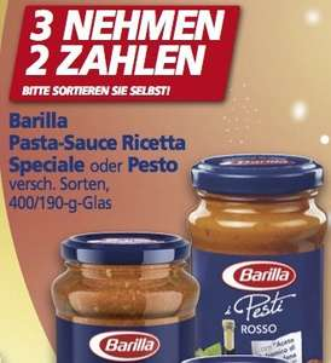[REAL] KW48: Barilla Pesto für 1,33 €, evtl. sogar 0,99 € (Angebot + Coupon)
