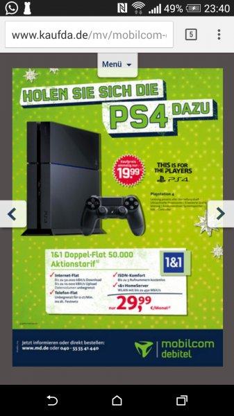 DSL 50000 inkl. Playstation 4. 29.99+ einmalige 19.99€