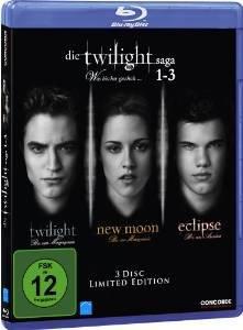 [Amazon.de] Die Twilight Saga 1-3 Limited Edition Blu-Ray - PRIME Angebot