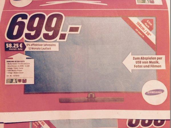 Samsung UE 58 H 5273 bei Mediamarkt Karlsruhe 699€