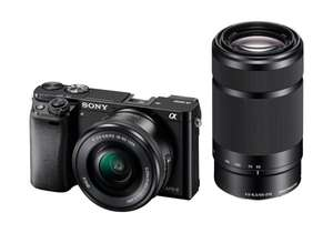 Sony Alpha 6000 Kit 16-50 mm + 55-210 mm (ILCE-6000Y) für 728,39€ @Amazon.fr