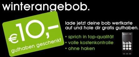 (Österreich) - Bob Wertkarte-Kunden: 20€ aufladen + 10€ Gratis
