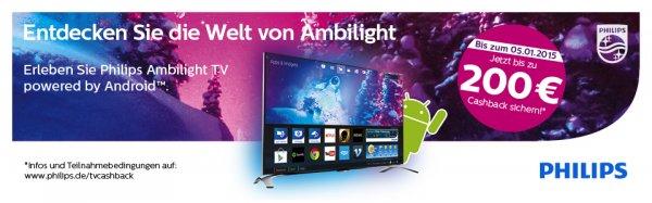 Philips Ambilight TV powered by Android™ - Bis zu 200 € Cashback sichern