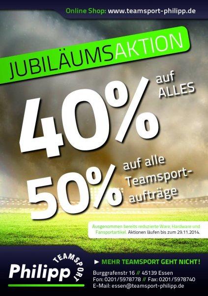 [Lokal Essen] Teamsport Philipp - 40% auf alles