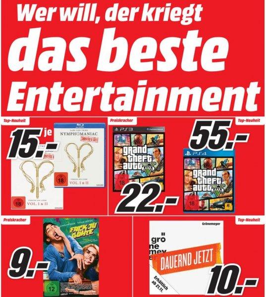 [Lokal Berlin] Media-Markt Entertainment Prospekt (Blu-Rays zu 5€, Iron Man Trilogie Blu Ray 10€, Games ohne Ende usw.)
