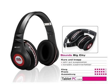 SOUNDS - Big City - Premium Bluetooth Stereo Kopfhörer Headset (All-In-One) schwarz für 37,99€ @ MeinPaket
