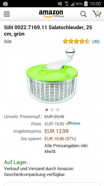 Silit Salatschleuder in weiß, lila und grün [mit PRIME noch günstiger]