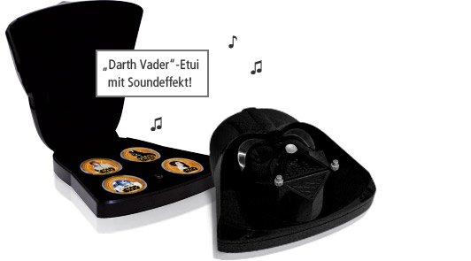 Offizielles Star Wars Münz Set Darth Vader / Millenium Falke bei Reppa.de