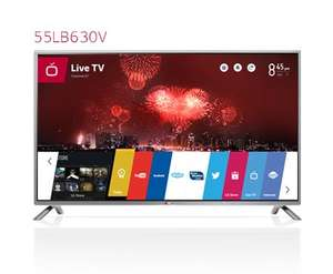 [amazon.de] LG 55LB630V (Full HD, 500Hz MCI, DVB-T/C/S, CI+, Wireless-LAN, Smart TV) 590€