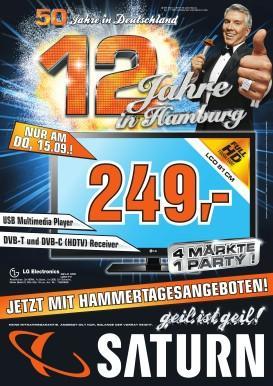 [Lokal Hamburg] Saturn 12jähriges Angebote