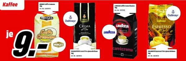 [Media Markt Leipzig-Paunsdorf] Dallmayr, Lavazza, Minges 1 KG Bohnen je 9 Euro // Kaffee | Espresso