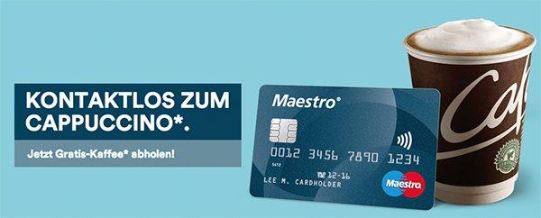Österreich - Gratis Cappuccino bei McDonald´s durch kontaktlose (NFC) Bezahlung