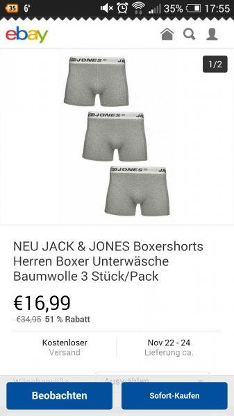 3 Jack & Jones Boxershorts