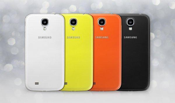 Original Samsung Galaxy S4 i9505 i9500 Black Edition Weiß Leder Akkudeckel