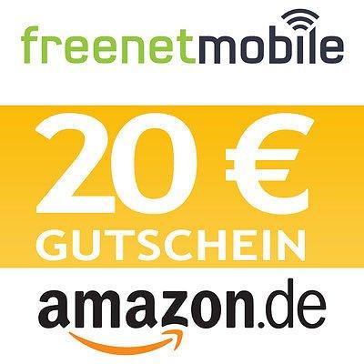 @eBay: freenetMobile freeSmart SIM-Karte & 20,00 Euro Amazon Gutschein