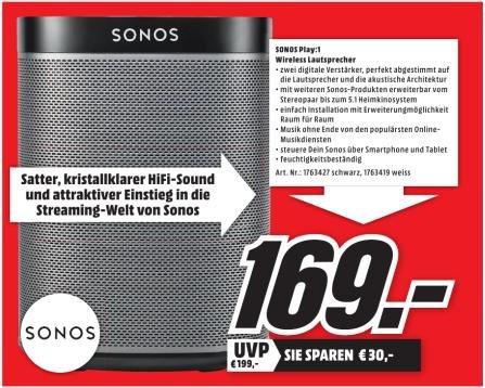 [Lokal Raum Würzburg] SONOS Play:1 für 169€