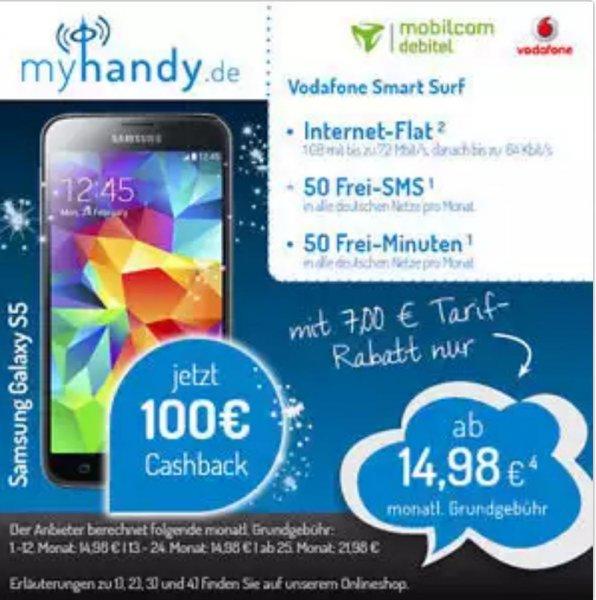 Samsung Galaxy S5 ab 299€ oder 378.51€ mit Vertrag!