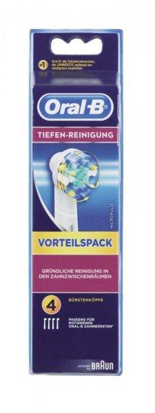 [Amazon] Braun Oral-B Tiefen-Reinigung Aufsteckbürsten, 4er-Pack (11,59€/Prime) (noch 7H)