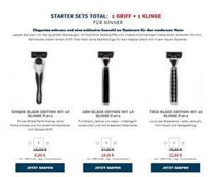 Rasiergriffe mit 50%off (Shave-Lab)