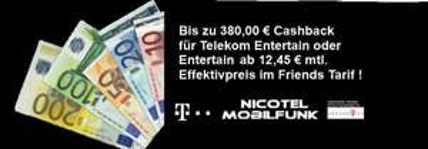 Telekom Magenta Zuhause Entertain S Friends für Junge Leute (DSL 16 Mbit/s Flat + Festnetz-Flat) für 12,45€ pro Monat