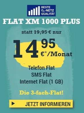 Bis 25.11.: 14,95 statt 19,95 € - McSIM Allnet Flat (SMS und Voice) + 1 GB + monatl. kündbar (O2-Netz)