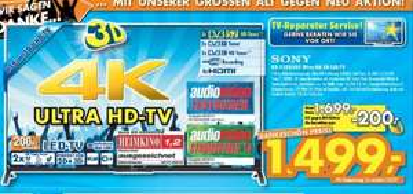 [Lokal: Ratingen] Sony KD-55X8505 4K TV