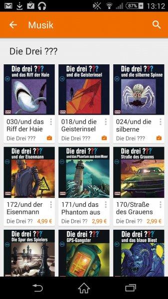 3 hörbücher von denn 3 Fragezeichen kostenlos über Google play