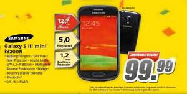 [Lokal] Samsung Galaxy S3 mini VE bei MEDIMAX Dortmund & Bochum