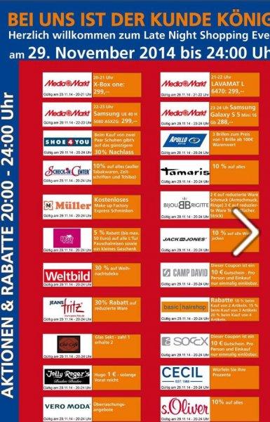 u.a. AEG Lavamat 6470 für 299€ statt 378€ (idealo) ~ nur am 29.11 in Baden-Baden ~ Late-Night Shopping im Cité