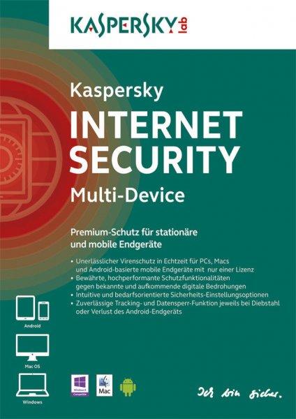 Kaspersky Internet Security Multi-Device, 5 Geräte, PC / MAC / Android @ Ebay.de