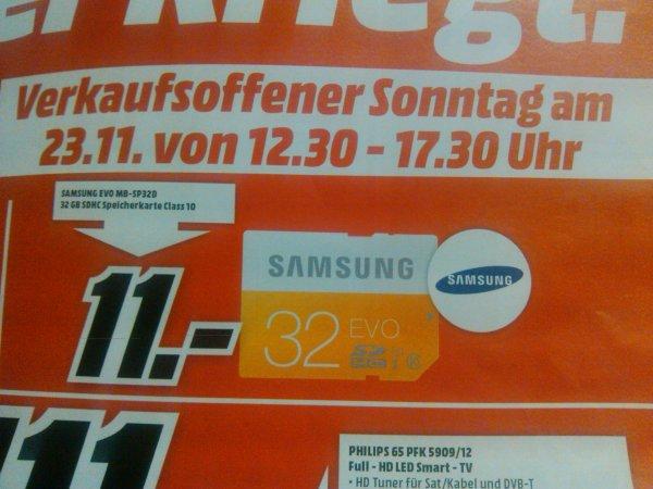 [MM Marktredwitz] Samsung Evo 32gb (MB-SP320) für 11€ nur heute am 23.11