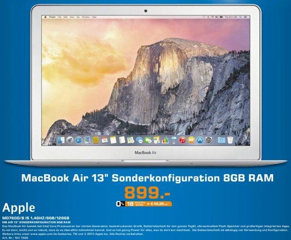 """[Lokal?] [Saturn Siegen] MacBook Air 13"""" Sonderkonfiguration 8GB RAM nur am 24.11. für 899 EUR"""