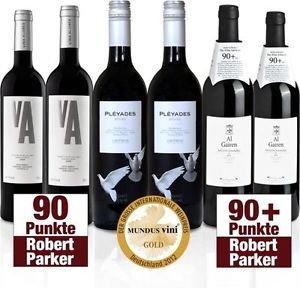 Ebay  - 6 prämierte Flaschen Rotwein ( 90+ Robert Parker, Gold mundus vini) für 29,95 € statt 59,95 €