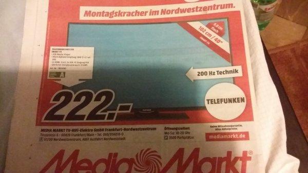 Montagskracher Telefunken D40F275 für 222€ @MM Frankfurt Nordwestzentrum
