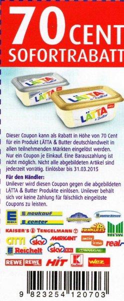 Lätta Halbfettmargarine für 0,29 € bei Edeka Reichelt - Regional Berlin