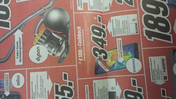 (Lokal Elmshorn) Samsung S5 349 + 100€ Cashback (MediaMarkt)
