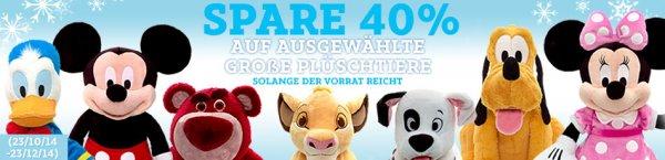 Große Disney-Plüschtiere für je 34,90€ im DisneyStore inkl. Versand
