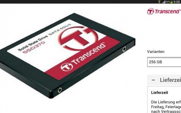 Transcend SSD 256GB für 69,50€ @ Conrad Black Week