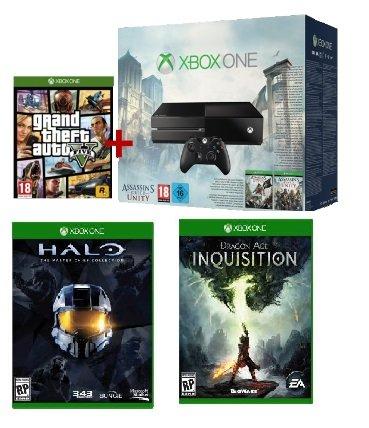 Xbox One + AC Unity + Black Flag + GTA 5 + weiteres Spiel (FarCry4,Halo..) @Saturn.at / Mediamarkt.at
