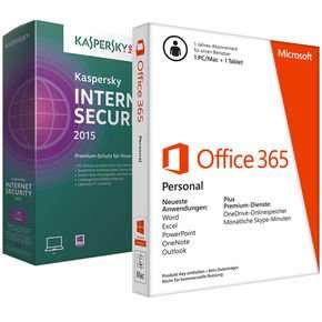 Microsoft Office 365 Personal + Kaspersky Internet Security 2015 für 32,89€ @Notebooksbilliger