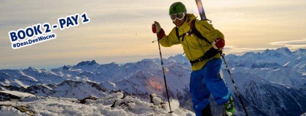 bei Zwei für einen, also 50% Rabatt  -- 1 Woche Winterurlaub Montafon, Vorarlberg Dezember & Januar