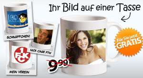 Foto-Tasse mit eigenem Foto (nur 4,95€ Versand)