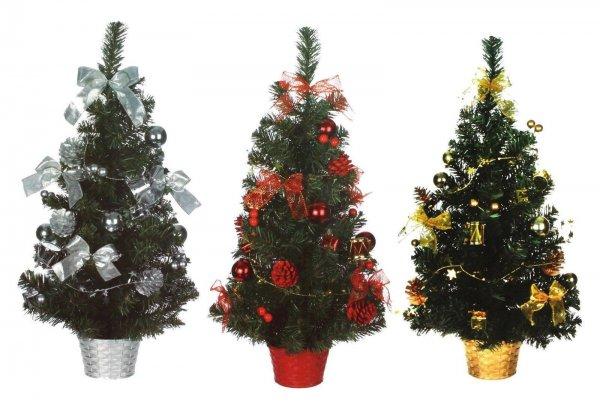 Christmas House Weihnachtsbaum geschmückt 60 cm (Silber, Rot, Gold) UVP: 17,95