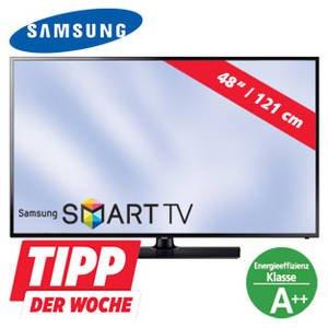 """[Real offline] SAMSUNG 48""""-FullHD-LED-TV UE48H5273 mit SmartTV und Triple-Tuner - mit """"Personalkauf"""" am 01.12.2014 nur 323,19 EUR"""
